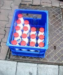 lait devant porte
